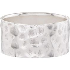 Accessorize Sterling Silver Chunky Beaten Wide Band Ring ($43) ❤ liked on Polyvore featuring jewelry, rings, chunky jewelry, sterling silver jewelry, sterling silver rings, sterling silver jewellery and accessorize jewelry