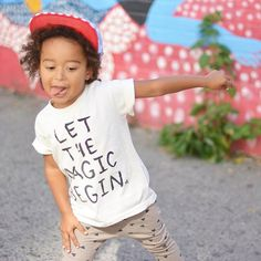 """""""Eli doing his thing  in our Let The Magic Begin  Organic tee! 
