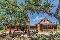 Texas' Boot Ranch community is the lush backdrop for a truly unique hybrid log-and-stone homestead.