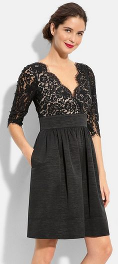 Lace black cocktail dress