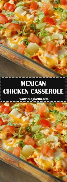 easy Mexican dinner for just 300 calories per serving. You can even assemble . - An easy Mexican dinner for just 300 calories per serving. You can even assemble it ahead of time, r -An easy Mexican dinner for just 300 calories per serving. 300 Calories, Slow Cooking, Cooking Recipes, Recipes For Casseroles, Summer Casseroles, Recipes Dinner, Mexican Chicken Casserole, Taco Chicken, Recipe For Chicken Casserole