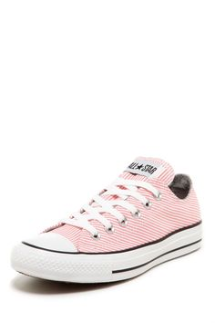 white and pink converse