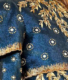 Blue - azul - dress - vestido - detalhe - moda -  Chanel embroidery details