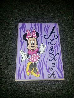 Minnie painting on wood