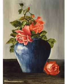 Still Life (with Roses), 1925, has not been exhibited since 1954, and shows the influence of the artist's father (Private collection. Courtesy Sotheby's, New York) Frida Kahlo Exhibit, Diego Rivera Frida Kahlo, Holly Williams, Kahlo Paintings, Still Life Artists, Mexican Flags, Mexican Artists, Female Portrait, Colour Schemes
