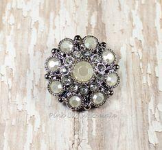 Set of 5, Wholesale Button, Lana Button, 28mm Iridescent Rhinestone Acrylic Button, Craft Button, Craft Embellishment, Craft Supply, DIY