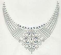 rhinestone neckline motif