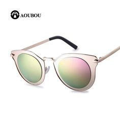 FuzWeb:AOUBOU Cat Eye Sunglasses Women Anti-Reflective Polycarbonate Lens Female Vintage UV400 Oculos AB706