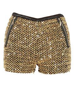 Shorts com aplicação de paetês