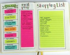 I use my Bullet Journal for Meal Planning This meal planning template in my Bullet Journal makes planning so easy!This meal planning template in my Bullet Journal makes planning so easy! Bullet Journal Wishlist, Bullet Journal Agenda, Bullet Journal Doodles, Bullet Journal Inspo, Bullet Journals, Bullet Journal Ideas Templates, Bullet Journal Grocery List, Bullet Journal Health, Bullet Journal Outline
