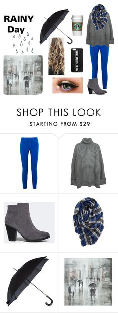 """""""Rainy Day"""" by s-hiver ❤ liked on Polyvore featuring J Brand, Breckelle's, BP., Fulton and Leftbank Art"""