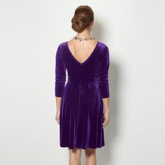 Velvet Fit-and-Flare Dress #Avon You're party perfect in a vibrant violet frock. Pull over, Long sleeves, V-neck. Reg. $29.99. #CJTeam #Avon #Style #Sale #Fashion #New #C24 #Velvet #Dress #RedHat #FitAndFlareDress #Womans #SignatureCollection #Avon4me FREE shipping with any $40 online Avon purchase. Shop Avon fashion online @ www.TheCJTeam.com