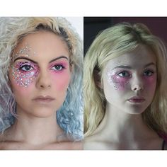 Here's my 3rd and final makeup look inspired by 'The Neon Demon'  Out now! #TheNeonDemon #ElleFanning #glitter #pinkshadow #glittermakeup