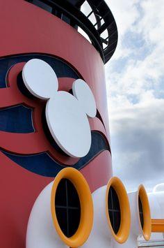 Funnel on the Disney Wonder