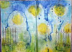 Mixed Media Art Journal Background - Artist Janine Koczwara