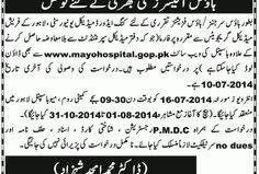 Career Opportunities (Meo Hospital Lahore) | New Jobs Portal