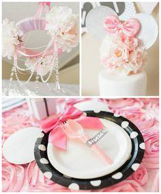 Elegant Minnie Mouse Boutique Birthday Party via Kara's Party Ideas! KarasPartyIdeas.com (3)