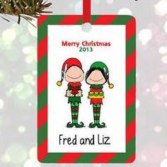 Elves Couple Ornament