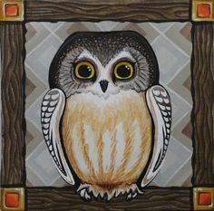 Paintings - Lori-Lee Thomas - Fine Art & Illustration Lee Thomas, Owl Art, Rug Hooking, Owls, Illustration Art, Fine Art, Bird, Art Paintings, My Style