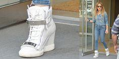 Jennifer Lopez Custom Giuseppe Zanotti 'Zeppa' Sneakers