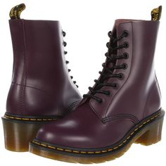 Dr. Martens Clemency 8-Tie Boot ($130) ❤ liked on Polyvore