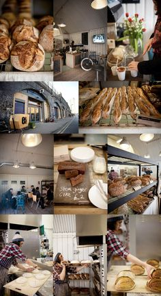 You need to find the cavernous Bakehouse located under the arches at London Fields train station. Bistro Restaurant, Cafe Bistro, My Coffee Shop, Coffee Cafe, Cafe Counter, Corner Bakery, Bakery Interior, Best Bakery, London Places