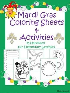 21 fun, fact-based, coloring and writing activities themed for Mardi Gras. Includes: History of Mardi Gras (Fact Based Timeline) with Timeline activity. Color Activities, Writing Activities, Writing Strategies, Mardi Gras Facts, Mardi Gras Images, Mardi Gras Activities, Louisiana History, Crown Party, Mardi Gras Carnival