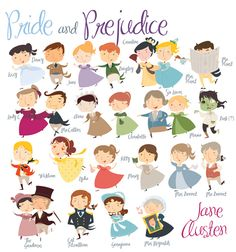 research topics the pride and prejudice research project  book character illustrations pride and prejudice jane austen well done