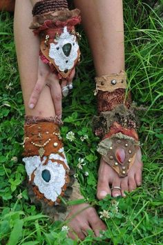 Jungle Gypsy Fashion--I want to make these for my feet for my next festival!