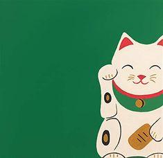 Green Lucky Cat Maneki Neko Clear Acrylic Organizer/serving Tray by Brushedinbold - Medium 15 x Japanese Waves, Japanese Art, Cat Art Print, Framed Art Prints, Lucky Cat Tattoo, Konosuba Wallpaper, Good Luck Gifts, Maneki Neko, Green Gifts