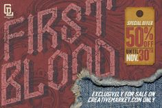 Check out FIRSTBLOOD by GOLDLAKE GRAPHIC on Creative Market