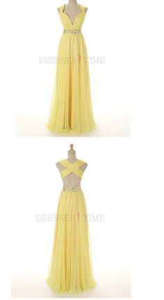 Yellow Beading Long Prom Dress with Beading Waist,Yellow Beading Long Prom Dress with Beading Waist,Yellow Beading Long Prom Dress with Beading Waist,