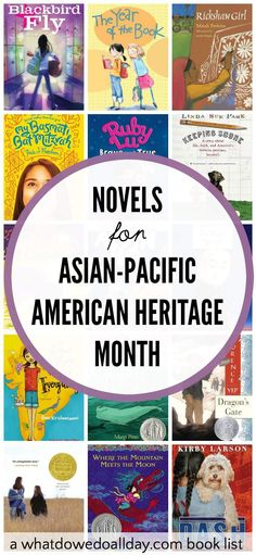 Fiction and Historical Fiction Kids' books for Asian Pacific American Heritage Month.
