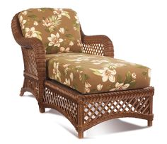 Brown Wicker Furniture: Lanai Chaise $1,040.00