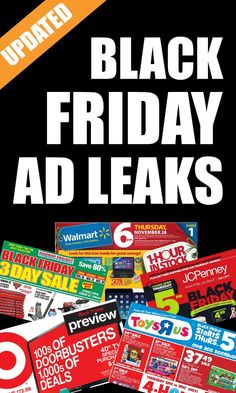 Black Friday Ad Leaks -- All the Black Friday Ads available for 2015. Updated regularly!
