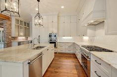 Image result for taj mahal quartzite counters and white subway backsplash