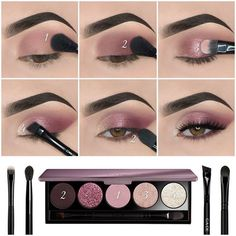 Here we have compiled simple eye makeup tips pictures. They can help you become an eye makeup expert. You can also easily get the perfect eye makeup. Makeup Eye Looks, Eye Makeup Steps, Simple Eye Makeup, Smokey Eye Makeup, Eyebrow Makeup, Skin Makeup, Face Contouring Makeup, Blonde Makeup, Natural Eyeshadow