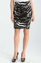 MICHAEL Michael Kors Zebra Print Ponte Skirt$79.50