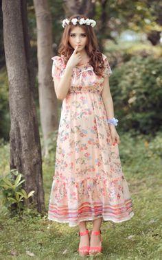 Floral Chifon dress