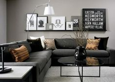 As a means of choosing your favorite small living room design. This awesome small living room design contain 19 fantastic design. Living Room Color Schemes, Living Room Grey, Small Living Rooms, Living Room Interior, Home And Living, Cozy Living, Charcoal Sofa Living Room, Grey Room, Gray Interior