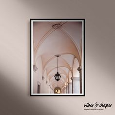 """Some light, some spirituality and a touch of lovely rosé for your walls. Architectural art print """"Arcades"""" ✨ #poster #artprint #home Unique Wall Decor, Unique Art, Magical Home, Shape Posters, New Perspective, Arcade, Giclee Print, Spirituality, Walls"""