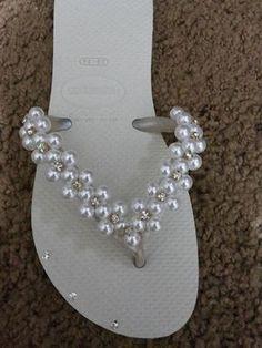modelos de chinelo decorado com pérola