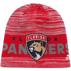 separation shoes 839e1 9f8a7 Florida Panthers adidas On Ice Knit Hat - Red. NHL Caps   Hats