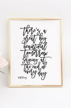Walt Disney World PRINTABLE ART Walt Disney Quote Inspirational Print Positive Inspiration Positive Vibes Walt Disney Nursery Decor Quotes #waltdisney #tomorrow #disney #inspire #affiliate