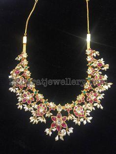 Mango Design Guttapusalu Necklace - Jewellery Designs