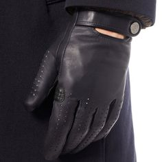 Fancy - Perforated Leather Driving Gloves by Dunhill