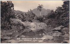 Cercanias de Adjuntas, Puerto Rico ~ Vintage Postcard Vintage Pictures, Old Pictures, Old Photos, Puerto Rico History, Puerto Rican Culture, Historical Images, Insta Instagram, Puerto Ricans, Vintage Postcards