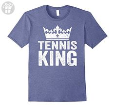 Mens Tennis King Shirt: Funny Player Gift For Men Small Heather Blue - Funny shirts (*Amazon Partner-Link)
