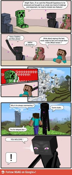 The Official Minecraft Boardroom and their everyday problem.