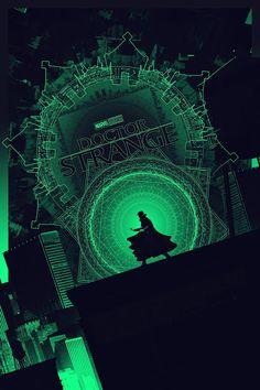 'Doctor Strange' (Glow In The Dark Layer) by Matt Ferguson